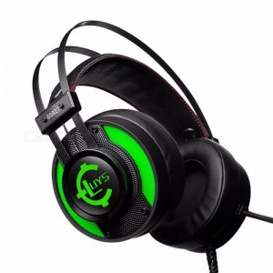 GS92 Internet Cafe Game Verlichting Headset Bedrade USB Interface Gaming Headset Groen