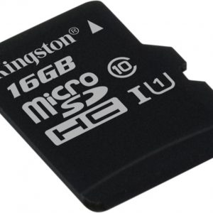 Kingston Micro SDHC Class 10 UHS-I Card 16 GB Single Pack w/o Adapter