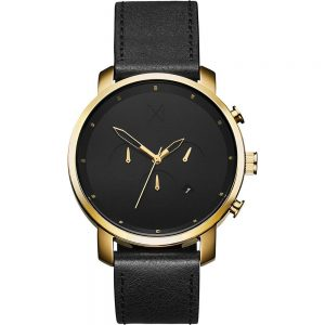 MVMT Chrono 45mm Gold Black Leather