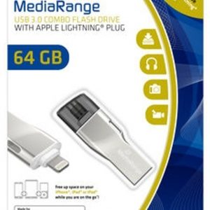 MediaRange MR983 USB flash drive 64 GB USB Type-A / Lightning 3.2 Gen 1 (3.1 Gen 1) Zilver