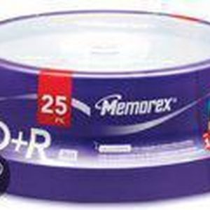 Memorex 16x DVD+R 4.7GB 25 Pack Cakebox
