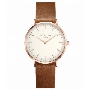 Rosefield The Tribeca White Brown Rosegold TWBRR-T55