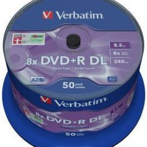 Verbatim DVD+R DL 8,5GB 8x SP MATT SILVER SURFACE - Rohling