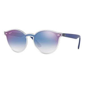 Ray-Ban Clear Gradient Blue Mirror Red Zonnebril 0RB4380N 6356X0 - Wit