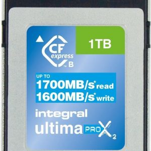 Integral INCFE1TB1700/1600 1TB CFEXPRESS CARD TYPE B 2.0 UP TO 1700MBS READ 1600MBS WRITE flashgeheugen 1000 GB