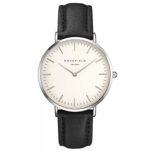 Rosefield the Bowery 38mm White Black Silver BWBLS-B2