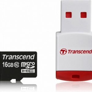 Transcend 16 GB micro SDHC card class 10 met Card Reader