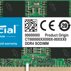 CT8G4SFRA266 - Geheugen - DDR4 (SO-DIMM) - 8 GB: 1 x 8 GB - 260-PIN - 2666 MHz / PC4-21300 - CL19