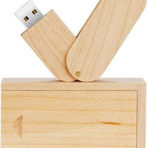 Hout twister usb stick in hout doos 8GB