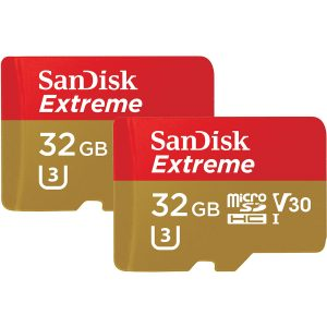 Sandisk MicroSDHC DUO pack Extreme 32GB 100mb/s V30 A1