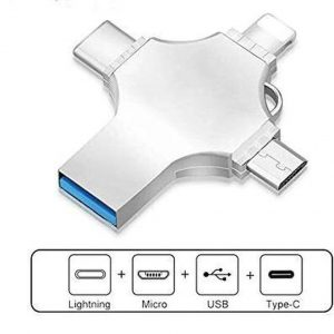 USB Stick 32GB - Flashdrive iPhone / iOS / Android 32GB - Flash Drive 4 In 1