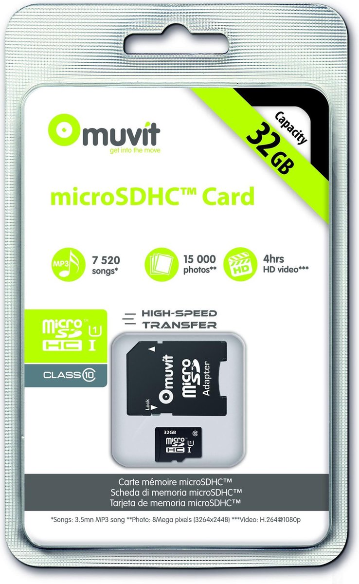 muvit Micro SD Card 32GB Class 10 (with Adapter)